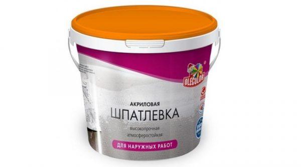 Шпатлевка масляно-клеевая 0,9кг OLECOLOR