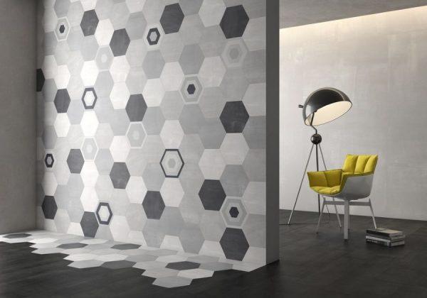 Шестиугольная плитка в интерьере