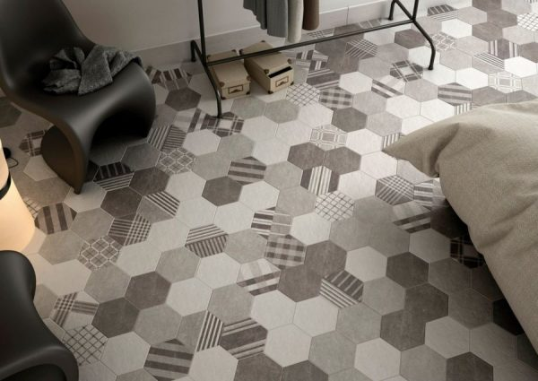 Плитка на пол шестигранная - керамогранит equipe Hexatile