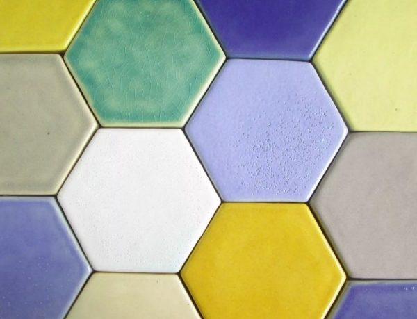 Плитка шестигранник цветная