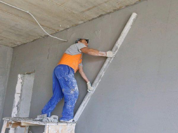Расход раствора при оштукатуривании стен
