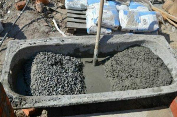 Разбавление старого бетонного раствора