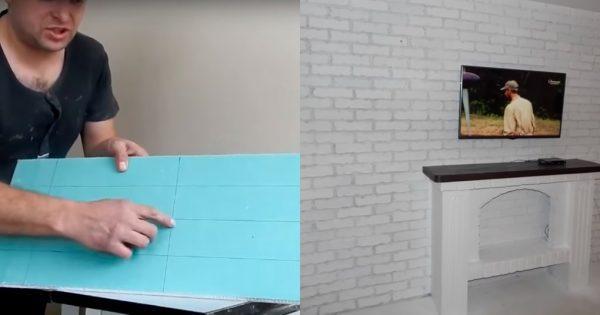 Разметка гипсокартона для изготовления декоративного кирпича
