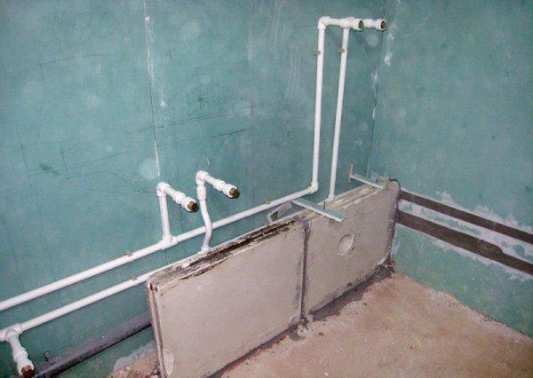 Разводка полипропиленовых труб в ванной
