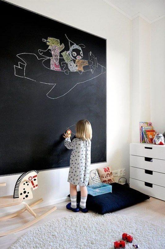 Стена для рисования мелом в детской