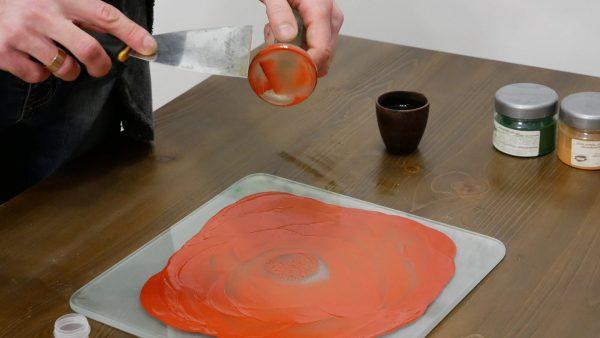 Ручное перетирание краски