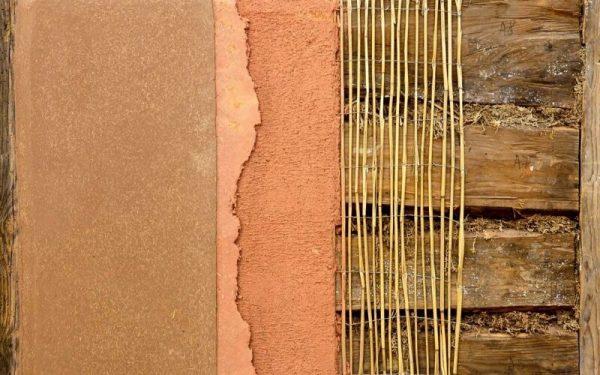 Штукатурка деревянной стены глиной