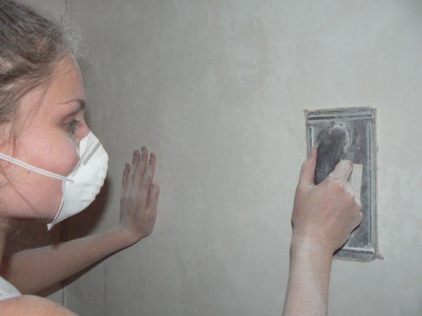 Средства защиты при шлифовке стен