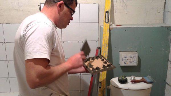 Укладка плитки без гребенки