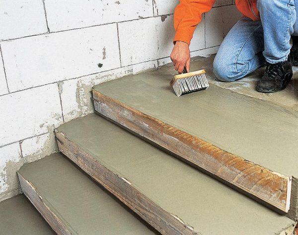Восстановление бетонных ступеней