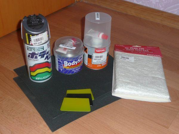Автошпаклевка и инструменты для работы с ней