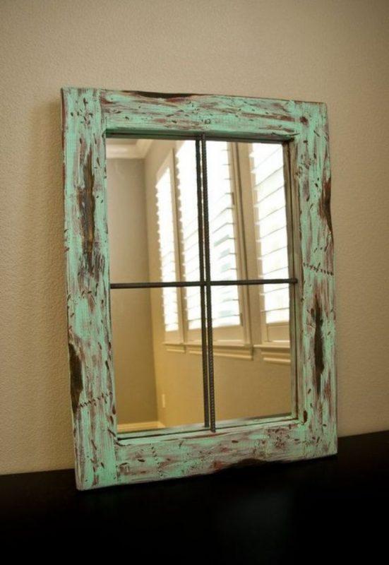 Зеркало из оконной рамы