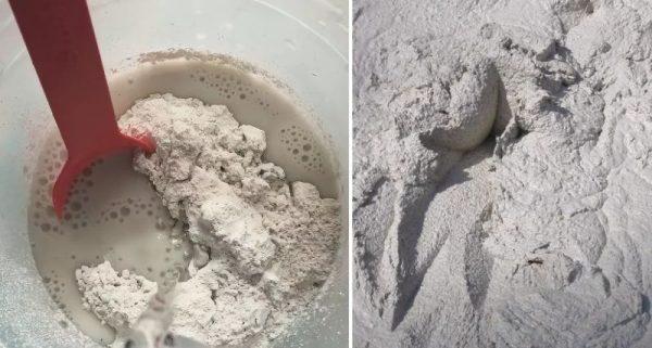 Пушонка (известь) в цементный раствор