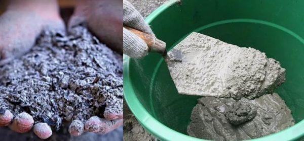 Зола в цементный раствор