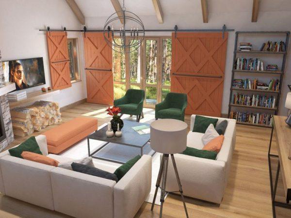 Интерьер гостиной в доме Балуева