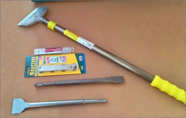 Инструменты для удаления шпаклевки