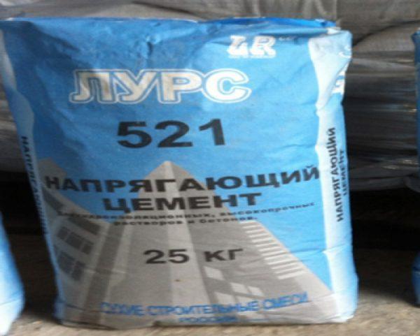 Напрягающая цементная смесь Лурс