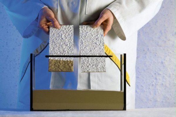 Образцы самоочищающегося покрытия фасада