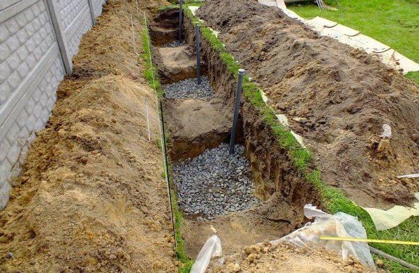 Посадочная яма для винограда с дренажом