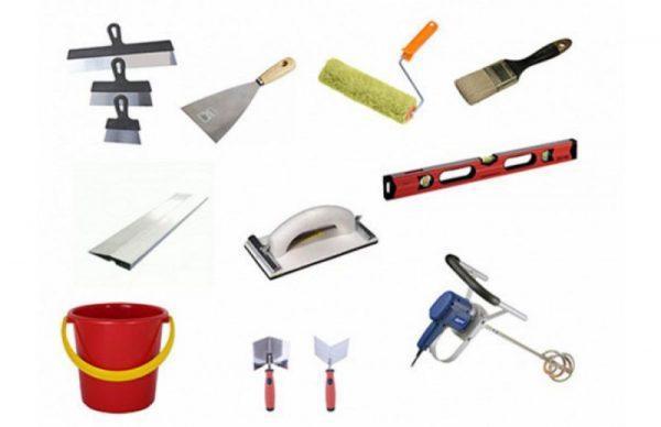 Материалы и инструменты для шпаклевки