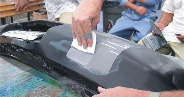 Шпатлевание пластикового бампера