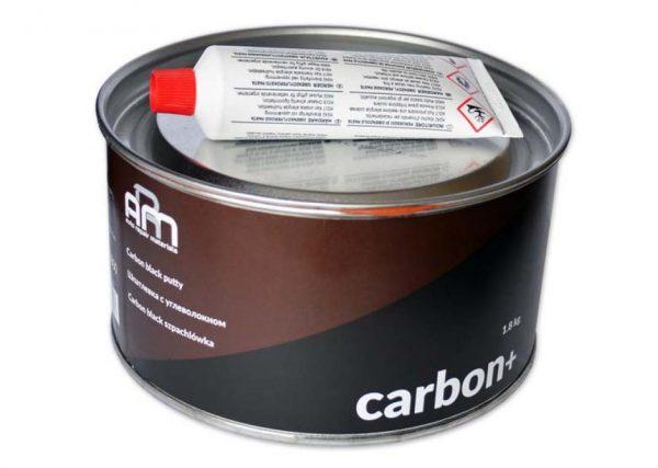 Шпатлевка с углеволокном черная CARBON+