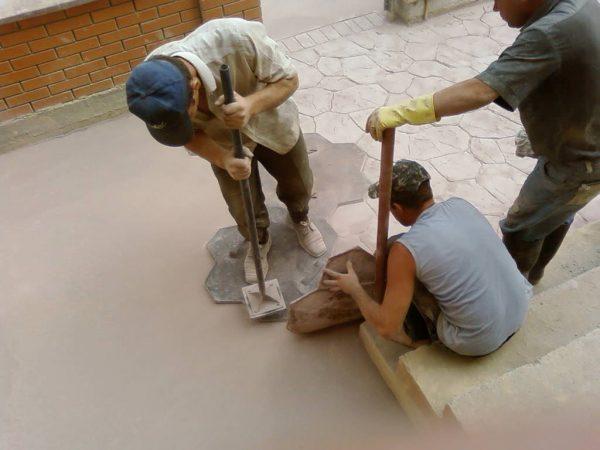 Технология заливки декоративного бетона