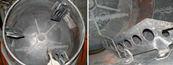 Установка лопастей в бак от стиралки
