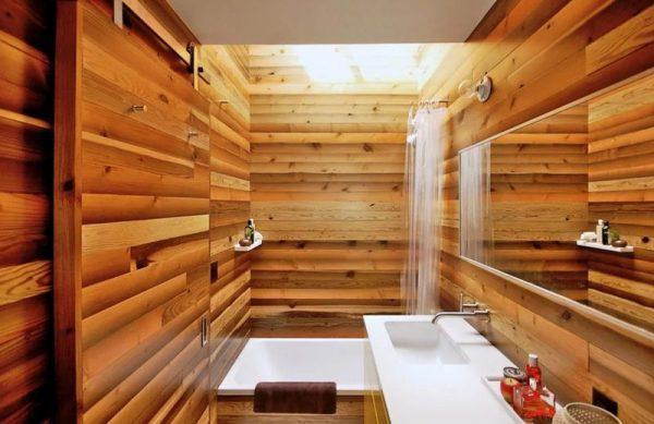 Ванная комната отделанная вагонкой