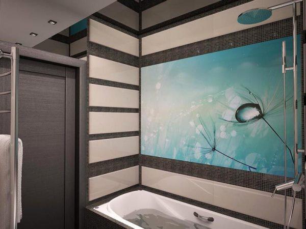 Стеклянные стеновые панели для ванной