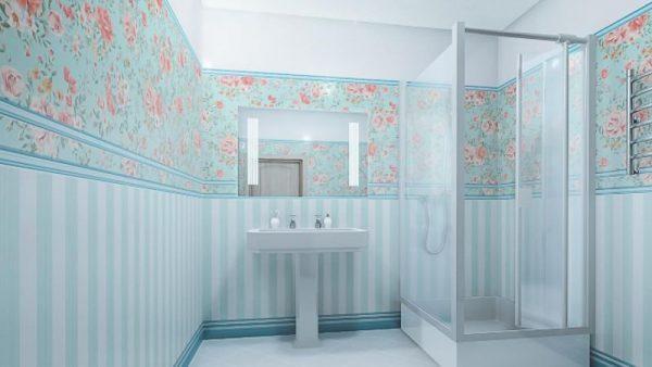 Пластиковые панели в интерьере ванной