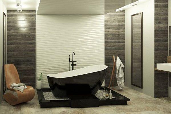 Гипсовые 3д панели в ванной