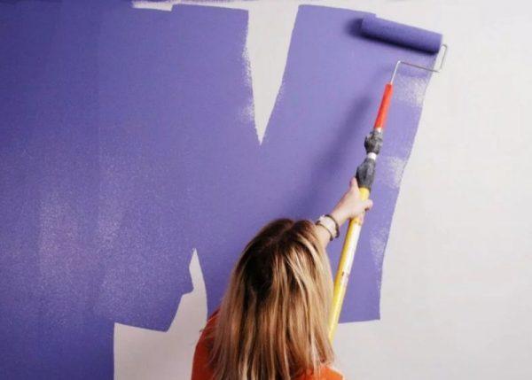 Нанесение водоэмульсионной краски