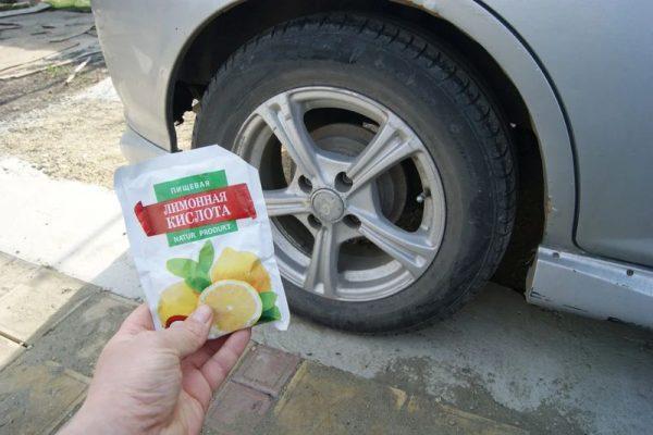 Чернение автошин лимонной кислотой
