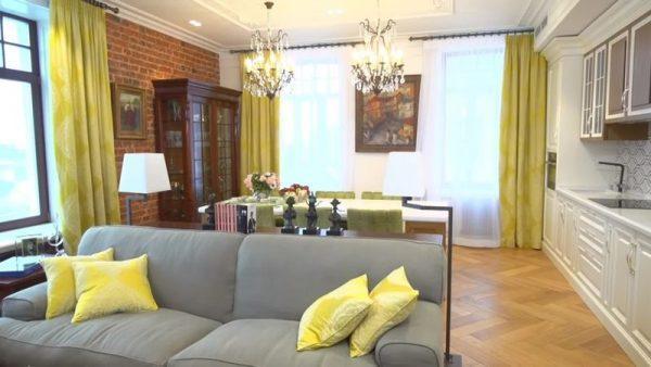 Интерьер гостиной в доме Надежды Бабкиной
