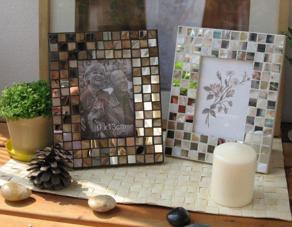 Фоторамки из остатков мозаики