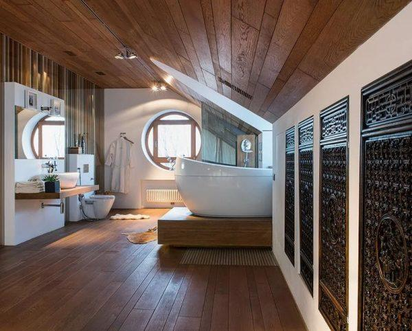 Ванная комната в доме Лагутенко