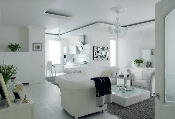 Белая квартира Яны Рудковской