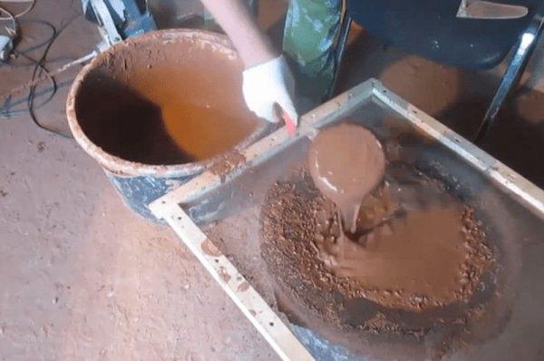 Удаление примесей из глины