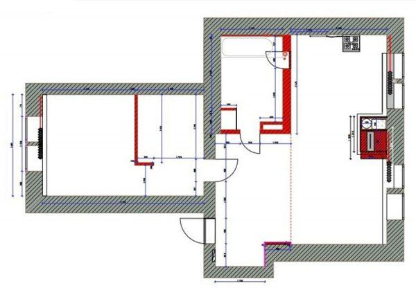 Планировка двухкомнатной квартиры актера