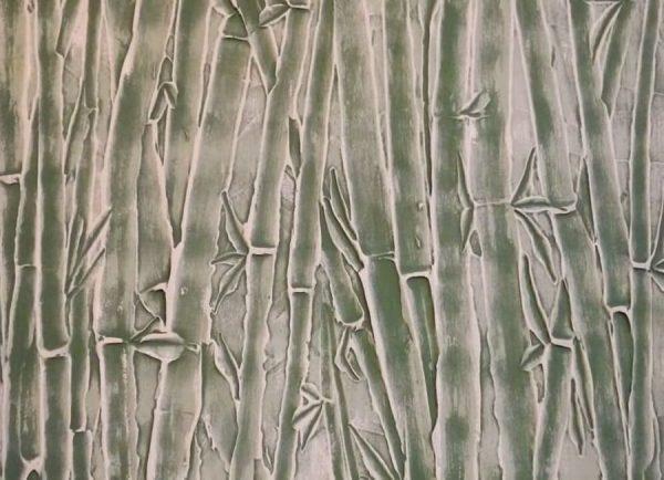 Бамбук декор на стенах штукатуркой