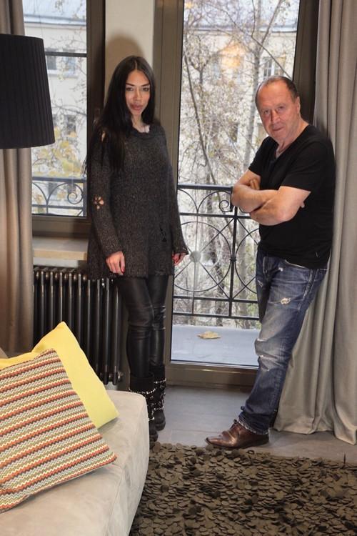Дизайнер Марина Нелина с Владимиром Стекловым