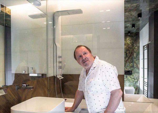 Ванная комната в квартире Стеклова