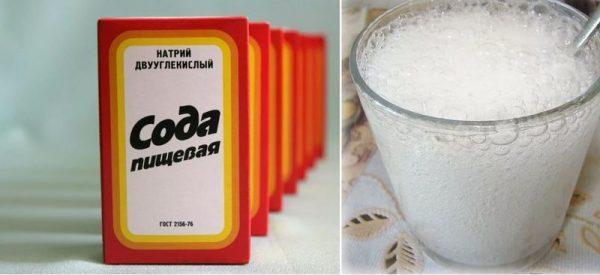 Сода с газировкой против ржавчины