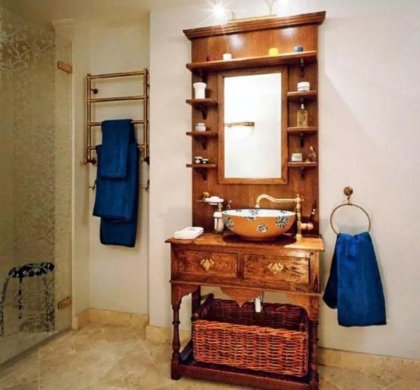 Ванная в квартире Хакамады