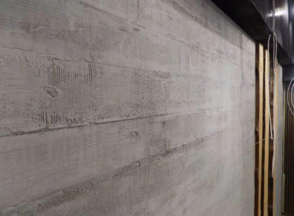 Штукатурка под бетон с опалубкой