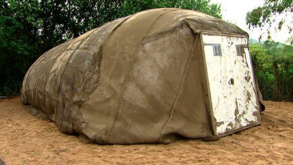 Бетонная армейская палатка