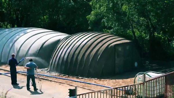 Быстровозводимые убежища из рулонного бетона