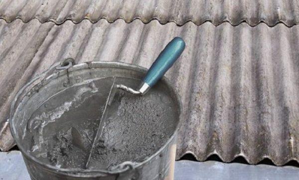 Цементный раствор для ремонта шифера