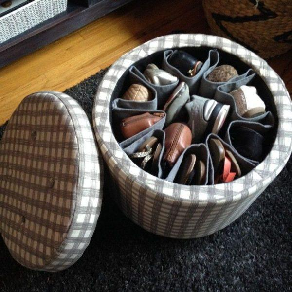 Органайзер пуфик для хранения обуви